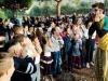 Gli alunni dell'I.C.S.G.Falcone e le mamme insieme per 'La Scuola è in gioco' dopo gli attacchi dei vandali - Ottobre 2012